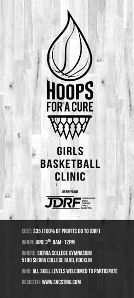 Hoops for a Cure Basketball Camp Flyer